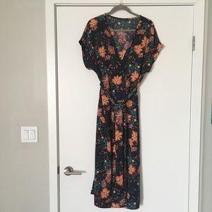 Zara floral midi dress